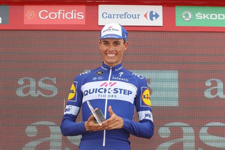 Tour de Catalogne - Deceuninck-Quick Step derrière Enric Mas
