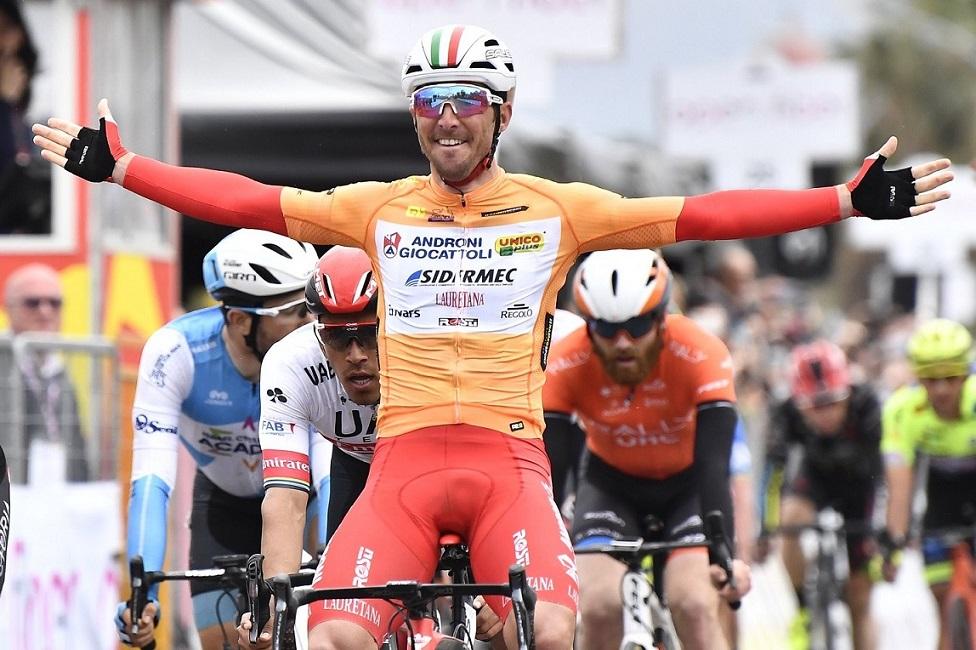 Tour de Sicile - Manuel Belletti devant Riccardo Stacchiotti