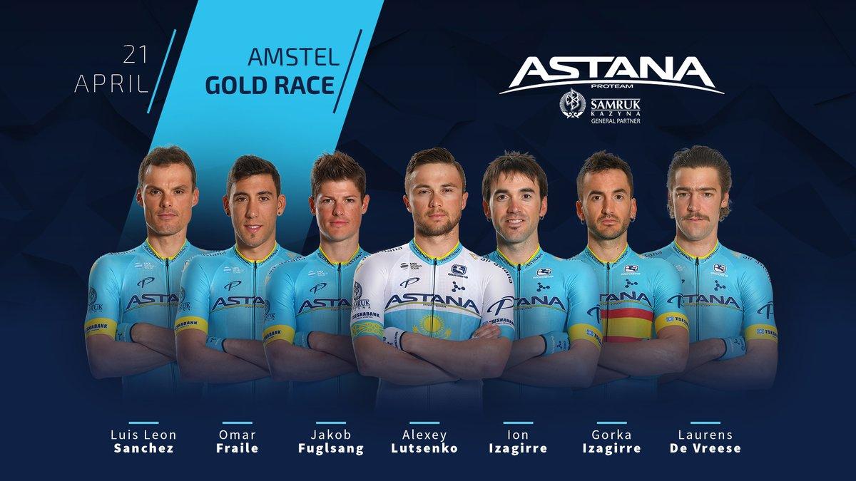 Amstel Gold Race - Astana avec Lutsenko, Fuglsang et Izagirre