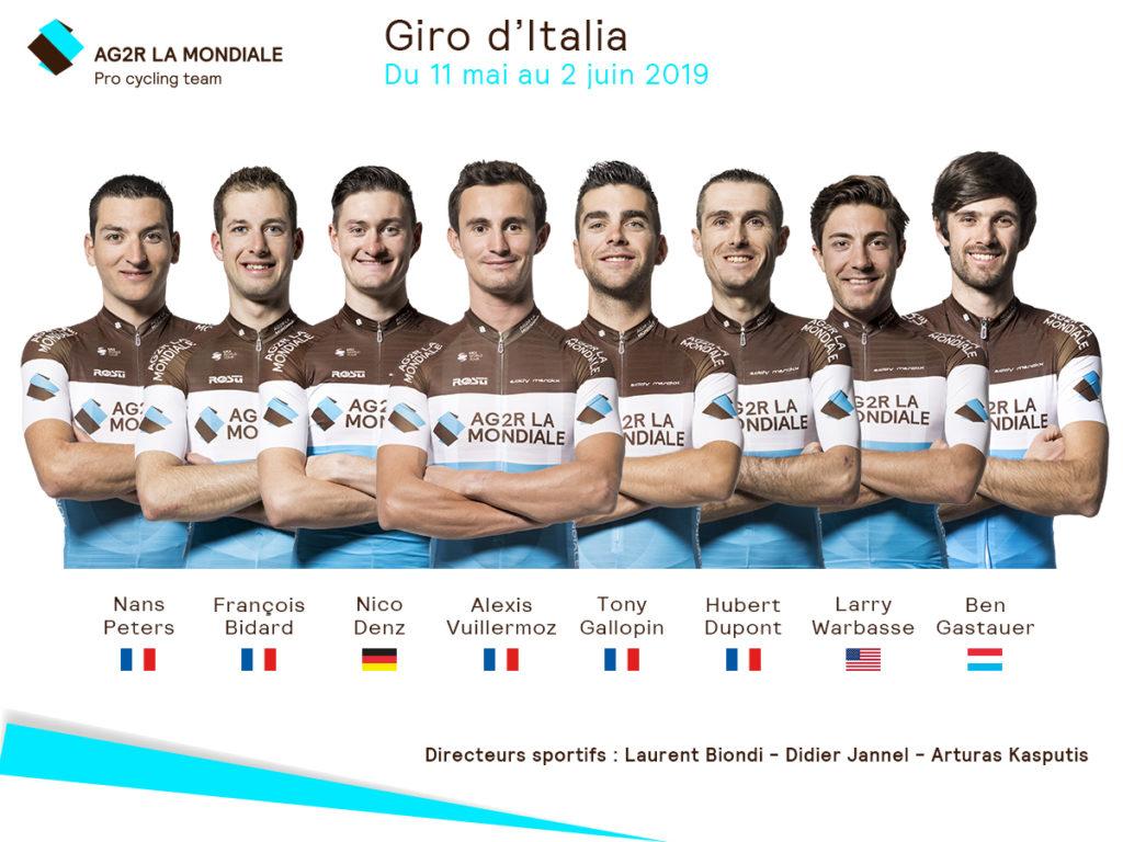 Tour d'Italie - AG2R emmenée par Gallopin et Vuillermoz