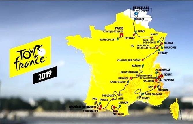 Tour de France - J -11 : le parcours du 106e Tour de France
