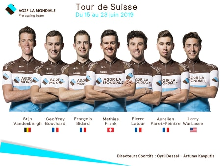 Tour de Suisse - AG2R avec Pierre Latour et Mathias Frank
