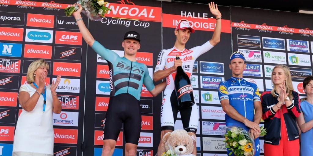 Halle-Ingooigem - De Bondt vainqueur, Philippe Gilbert 3e