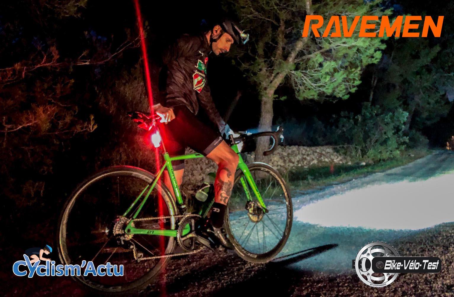 Bike Vélo Test - Cyclism'Actu a testé : les phares Ravemen
