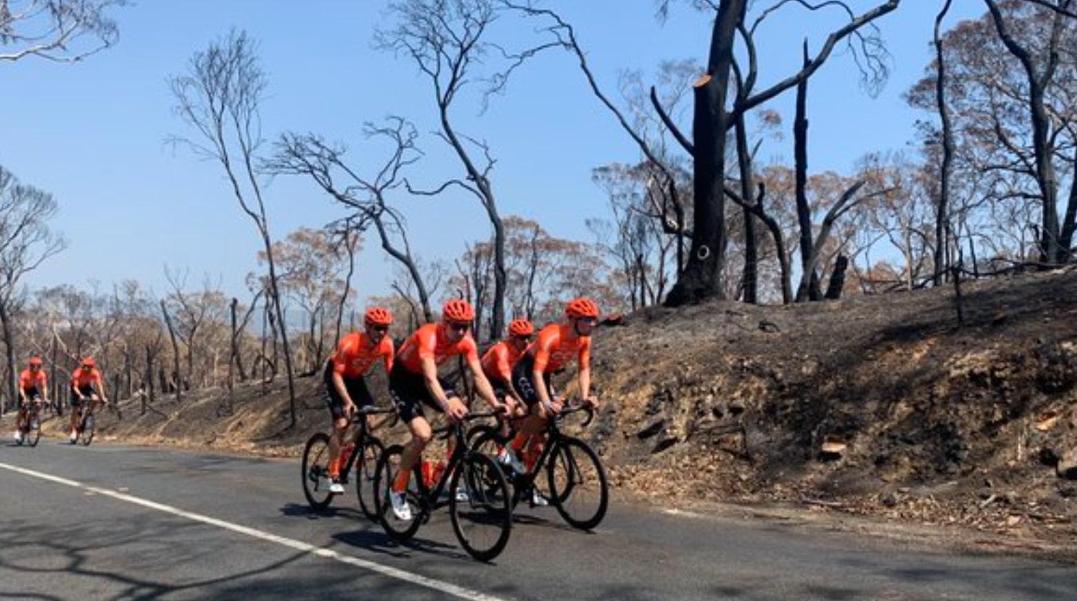 Tour Down Under  - CCC Team apporte son soutien aux Australiens