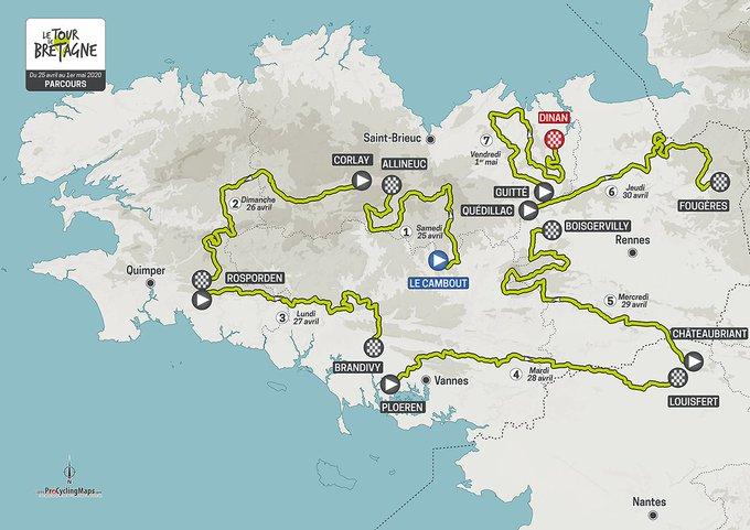 Tour de Bretagne - Le parcours complet du Tour de Bretagne 2020