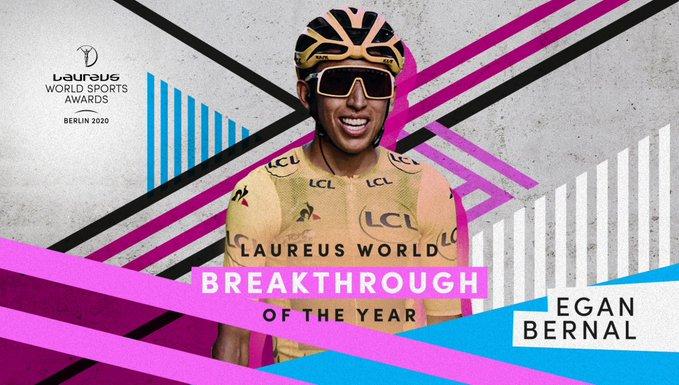 Laureus Sports Awards - Egan Bernal élu révélation de l'année