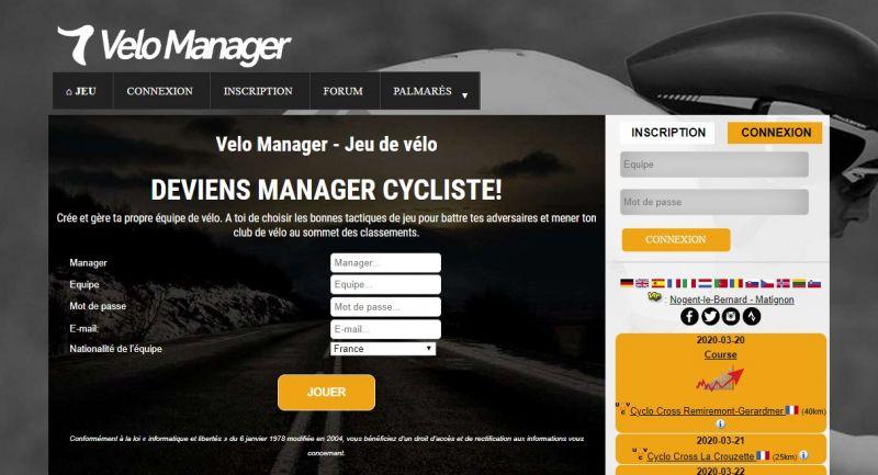 Jeu gratuit - Lancement de la saison 75 de Vélo Manager ce week-end