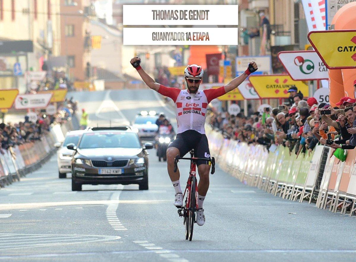 Tour de Catalogne - Thomas De Gendt gagne la 1ère étape virtuelle