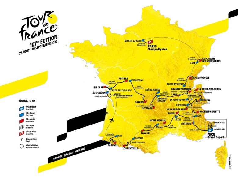 Tour de France - J-57 avant le Grand Départ à Nice du Tour de France