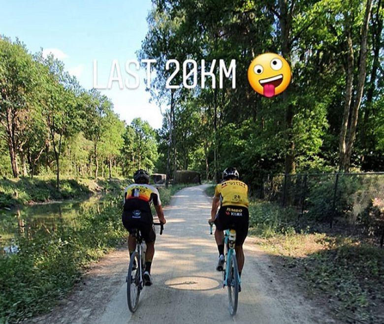 Route - Wout Van Aert a parcouru 323 km lors de la «Dirty Kanzelled»