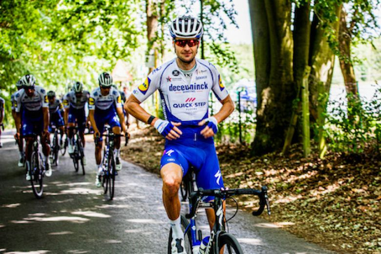 Route - La Deceuninck - Quick Step en stage au Passo San Pellegrino