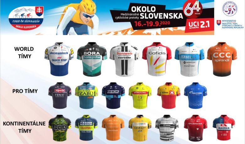 Tour de Slovaquie - 20 formations présentes dont 6 du World Tour