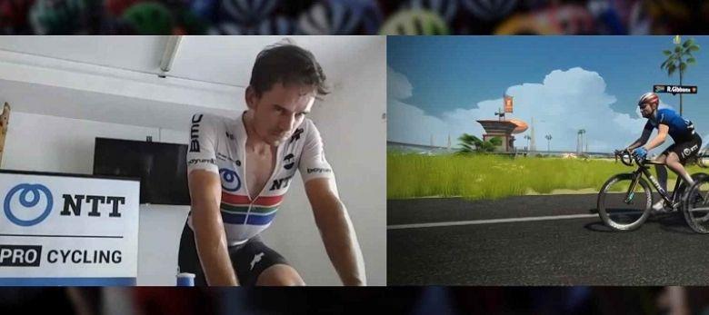 Tour de France virtuel - Gibbons gagne la 1ère étape, van der Poel 4e