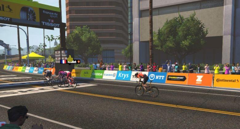 Tour de France virtuel - Julien Bernard gagne la 2e étape, Edet 3e