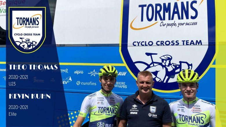 Cyclo-cross - Théo Thomas Kevin Kuhn rejoignent l'équipe Tormans