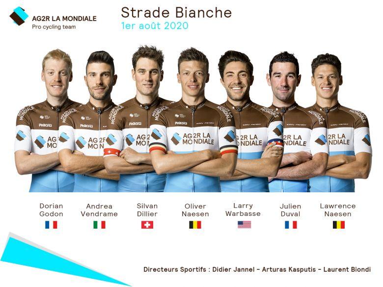 Strade Bianche - Oliver Naesen leader de l'équipe AG2R La Mondiale