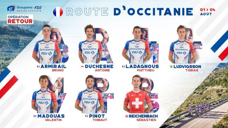 Route d'Occitanie - L'équipe Groupama-FDJ autour de Thibaut Pinot
