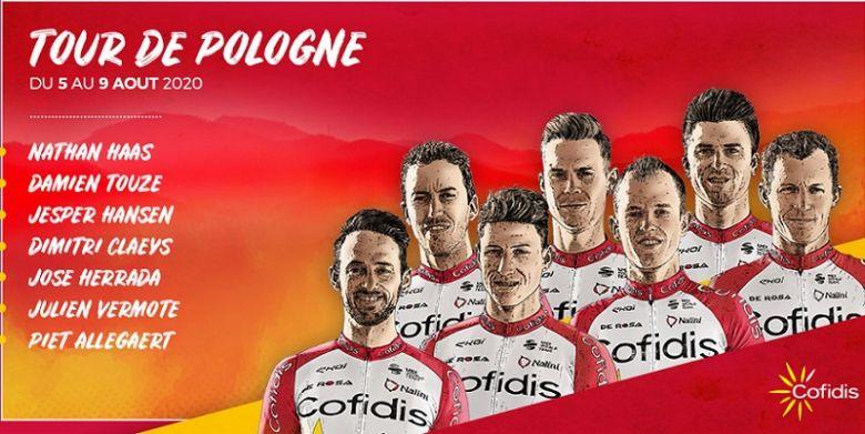Tour de Pologne - La Cofidis avec José Herrada et Jesper Hansen