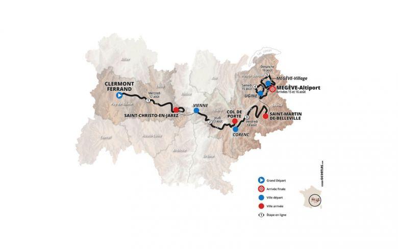 Critérium du Dauphiné - Le parcours du Dauphiné qui débute ce mercredi