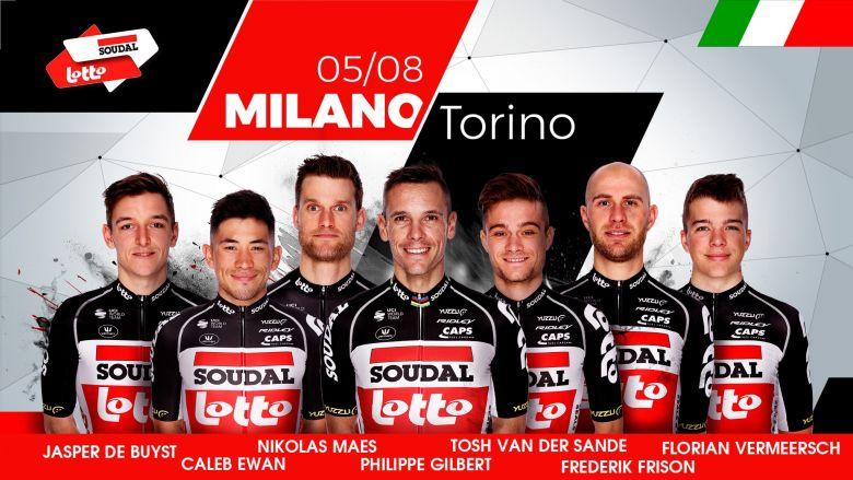 Milan-Turin - Lotto Soudal avec Caleb Ewan et Philippe Gilbert