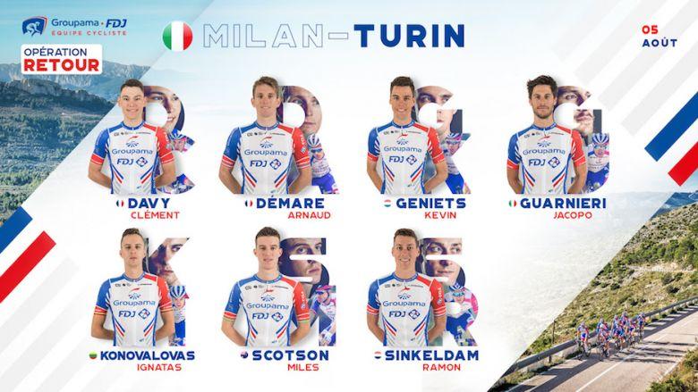 Milan-Turin - Guesdon : «Prétendre à un beau résultat avec Démare»