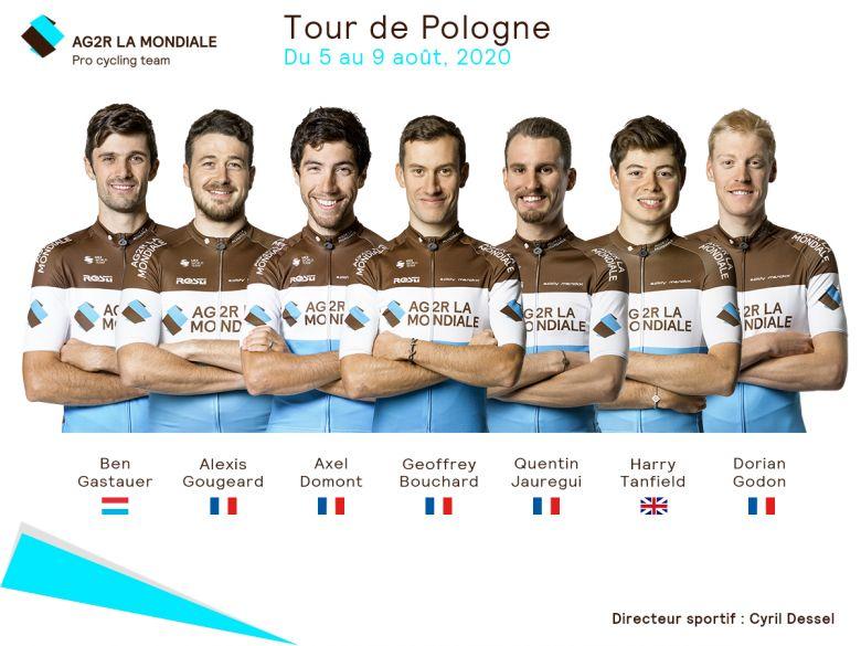 Tour de Pologne - AG2R La Mondiale avec Bouchard et Gougeard