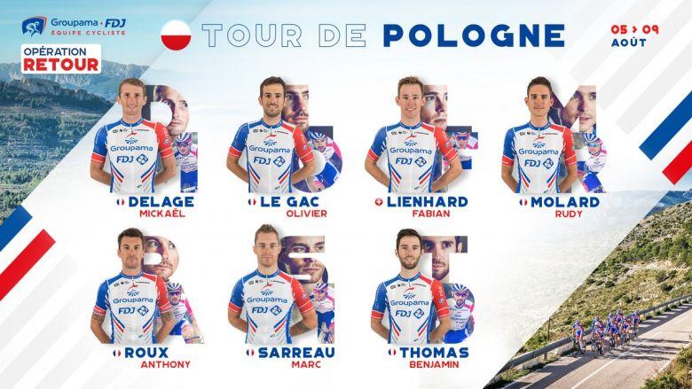 Tour de Pologne - La Groupama-FDJ autour de Rudy Molard et Sarreau
