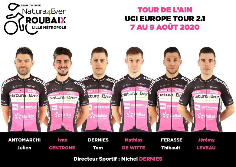 Tour de l'Ain - Natura4Ever Roubaix Lille Métropole avec 6 coureurs