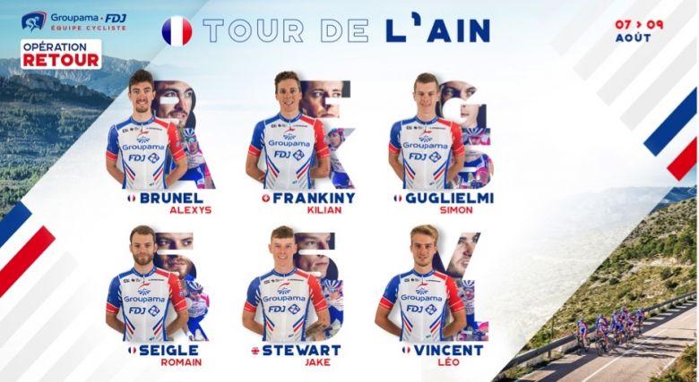 Tour de l'Ain - La Groupama-FDJ fait confiance à ses jeunes coureurs