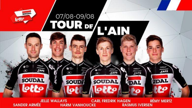 Tour de l'Ain  - L'équipe Lotto Soudal avec Carl Fredrik Hagen