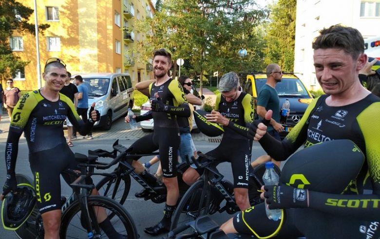 Czech Tour - Mitchelton-Scott gagne le chrono par équipes, Sunweb 2e