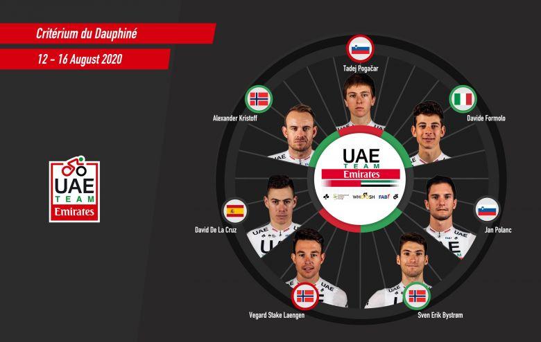 Critérium du Dauphiné - UAE Team Emirates mise sur Tadej Pogacar
