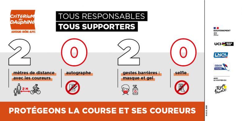 Critérium du Dauphiné - Le masque est obligatoire sur le Dauphiné