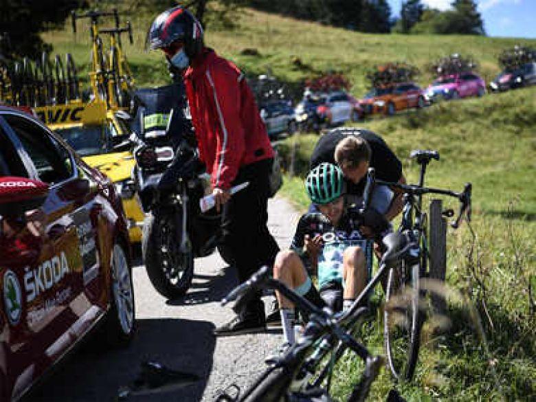 Critérium du Dauphiné - Chute et abandon de Buchmann et Kruijswijk