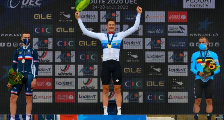 Europe - CLM - Stefan Küng champion d'Europe, Rémi Cavagna en argent
