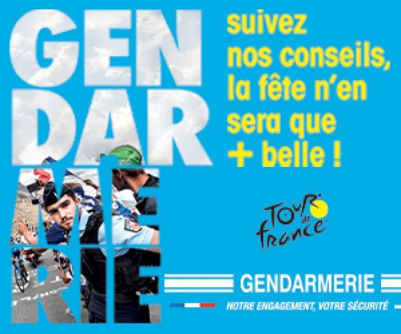 Tour de France - La caravane de la Gendarmerie était au coeur du Tour