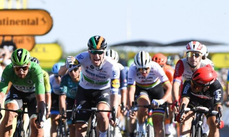 Tour de France - Sam Bennett s'impose devant Caleb Ewan et Peter Sagan