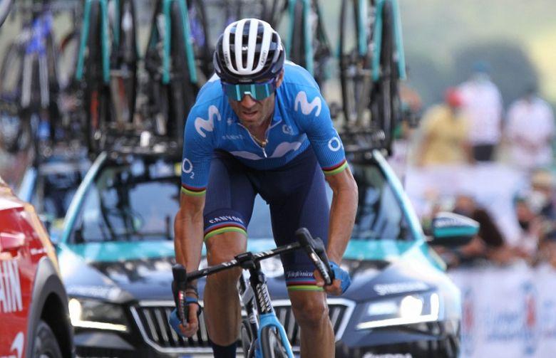 Tour de France - Valverde : «Il y a des raisons d'être heureux»