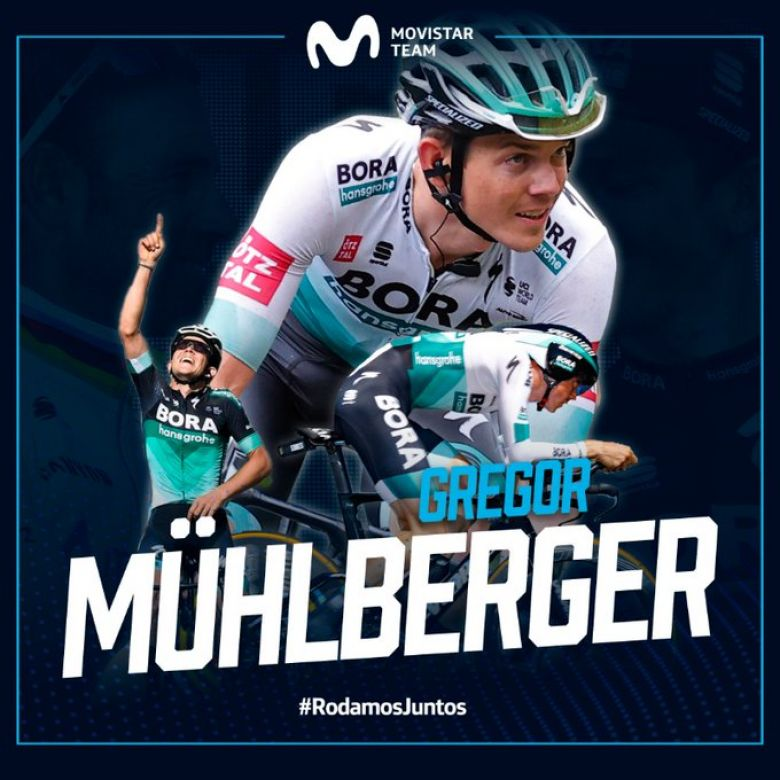 Transfert - Gregor Mühlberger signe chez Movistar jusqu'en 2023