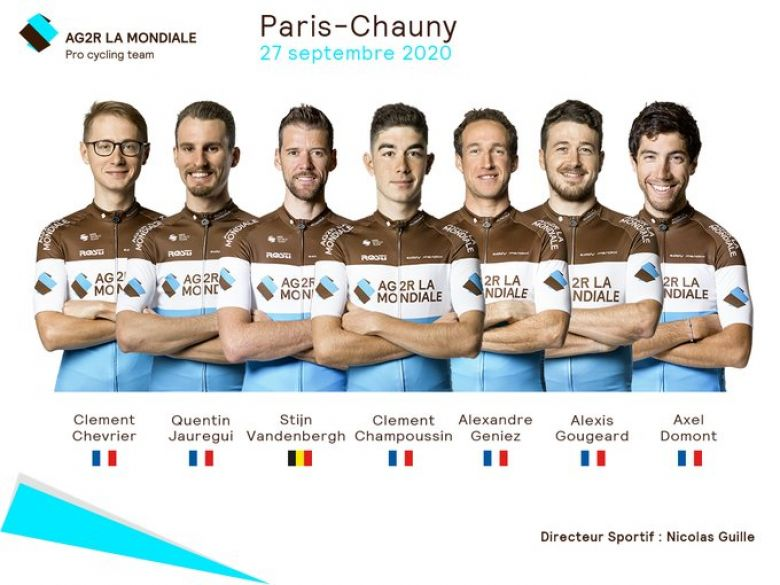 Paris-Chauny - AG2R La Mondiale avec Gougeard, Jauregui, Champoussin