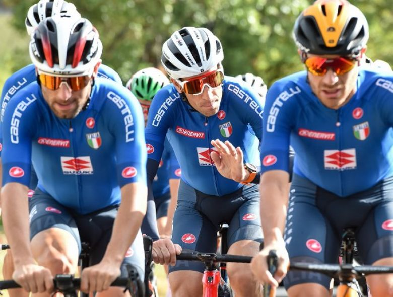 Mondiaux - La sélection italienne avec Nibali, Caruso, Bettiol