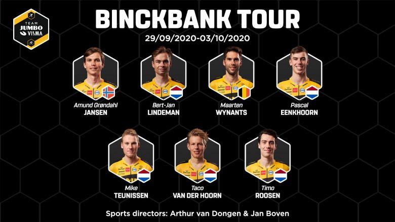 BinckBank Tour - La Jumbo-Visma avec Mike Teunissen et Jansen