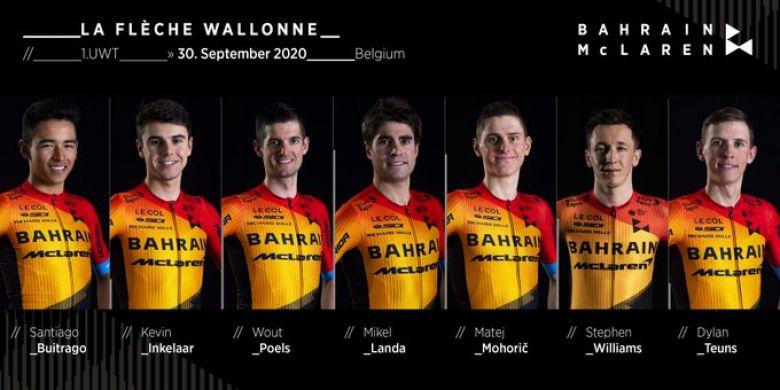 Flèche Wallonne - Bahrain McLaren avec Teuns, Poels et Landa
