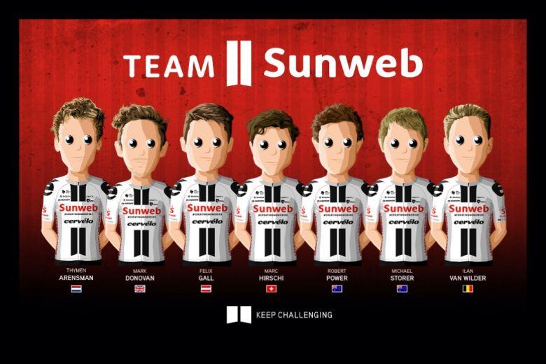 Flèche Wallonne - L'équipe Sunweb autour du jeune Suisse Marc Hirschi