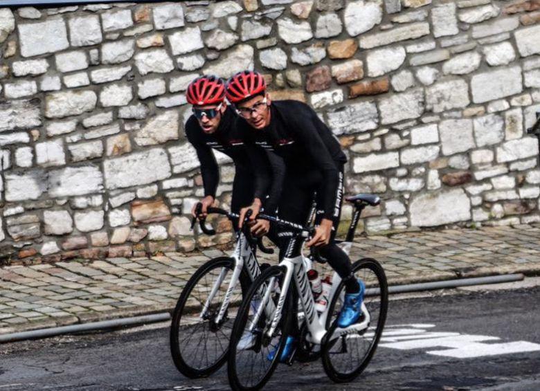 Route - Warren Barguil leader d'Arkéa-Samsic sur la Flèche et Liège