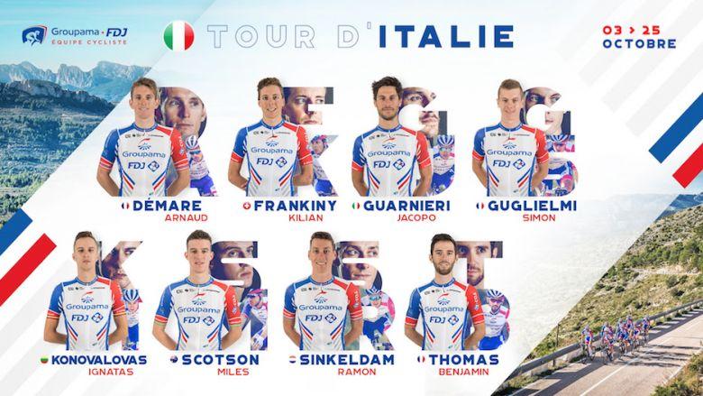 Tour d'Italie - La Groupama-FDJ avec Arnaud Démare en leader unique