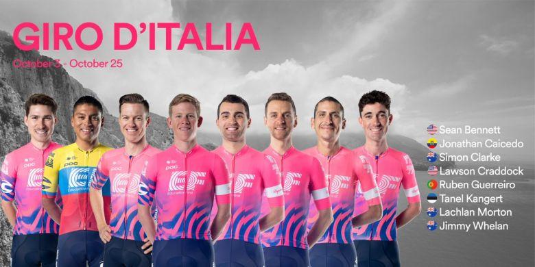 Tour d'Italie - EF Pro Cycling avec Tanel Kangert et Simon Clarke