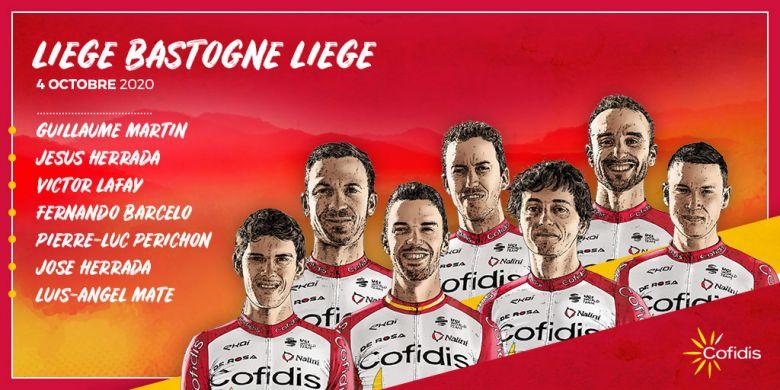 Liège-Bastogne-Liège - Cofidis avec Guillaume Martin comme leader