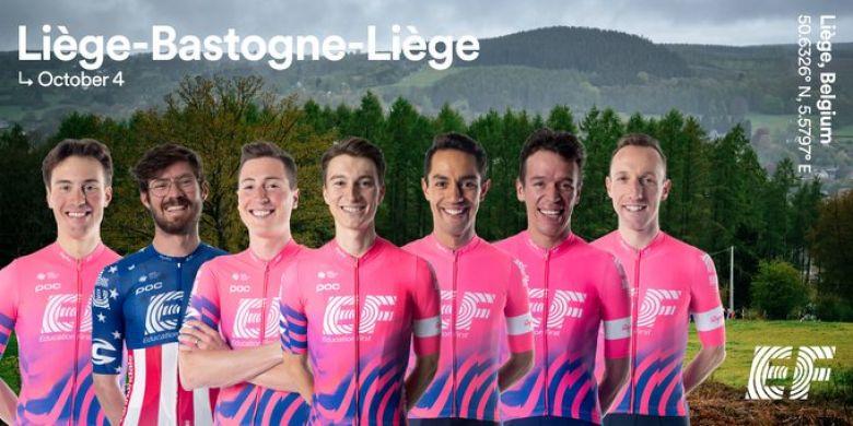 Liège-Bastogne-Liège - EF Pro Cycling avec Woods, Martinez et Uran